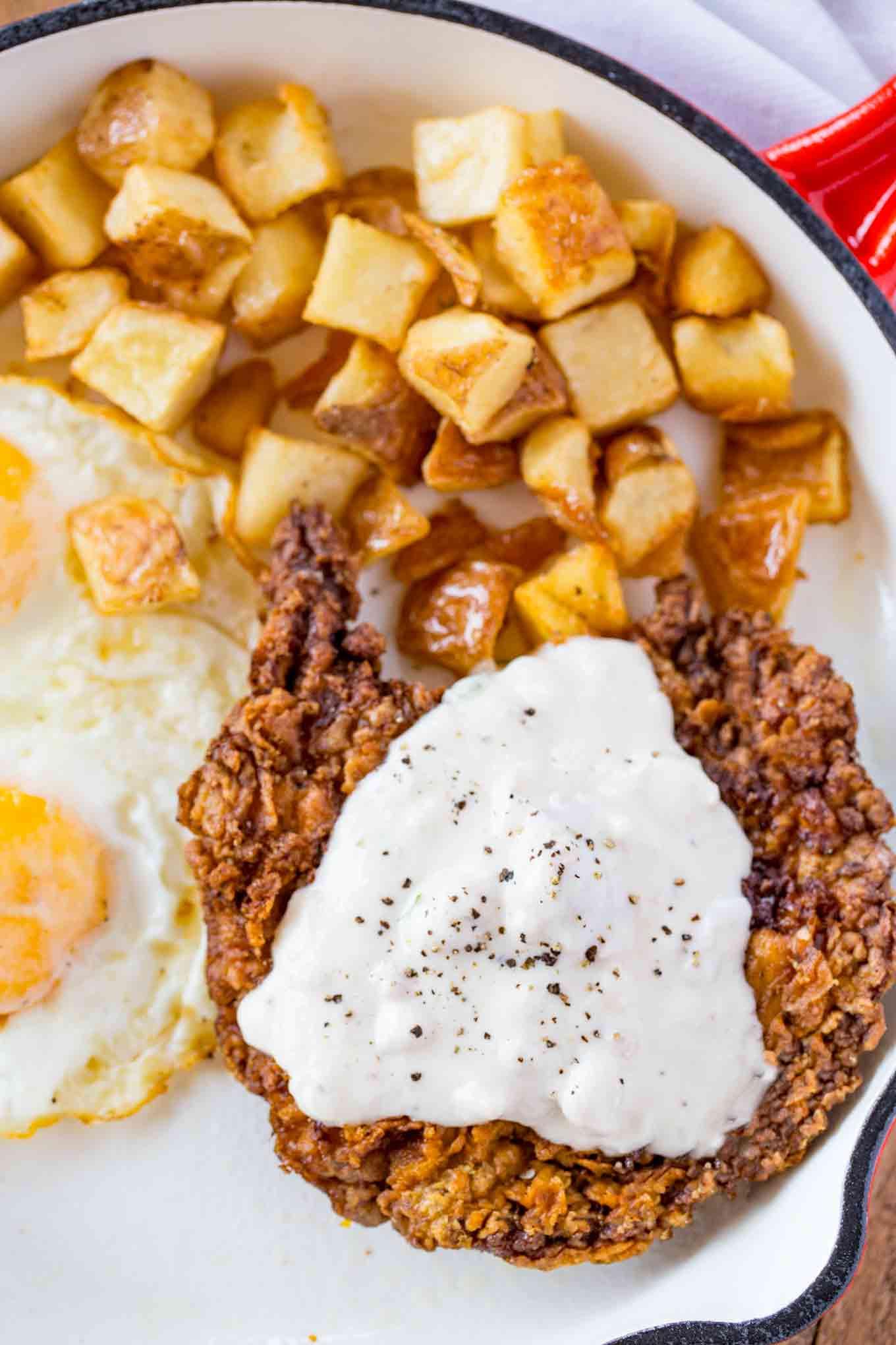 Homemade Chicken Fried Steak  Chicken Fried Steak Dinner then Dessert