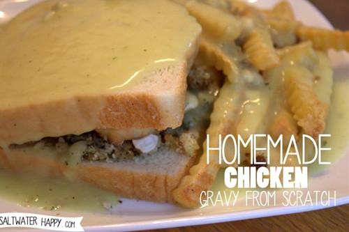 Homemade Chicken Gravy  homemade chicken gravy from scratch recipe