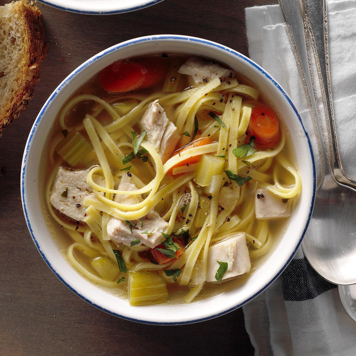 Homemade Chicken Soup Recipe  Hearty Homemade Chicken Noodle Soup Recipe