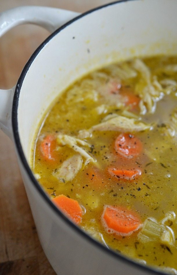 Homemade Chicken Soup Recipe  Easy Chicken Soup Recipe with Lemon and Pepper
