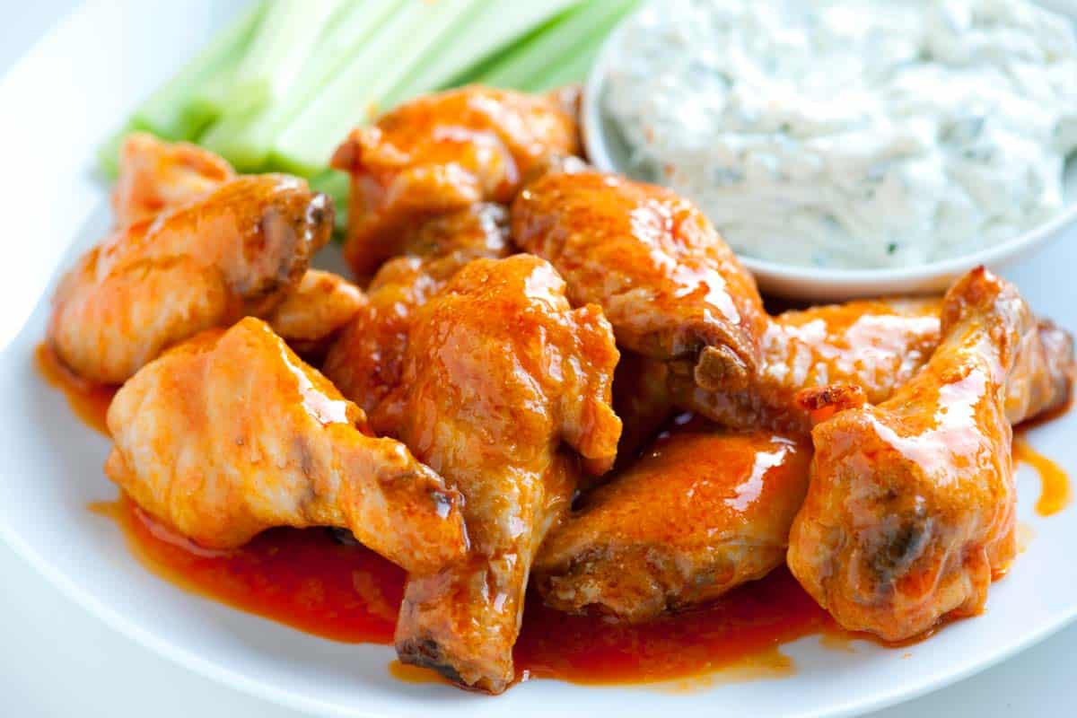 Homemade Chicken Wings  How to Make Crispy Baked Buffalo Chicken Hot Wings