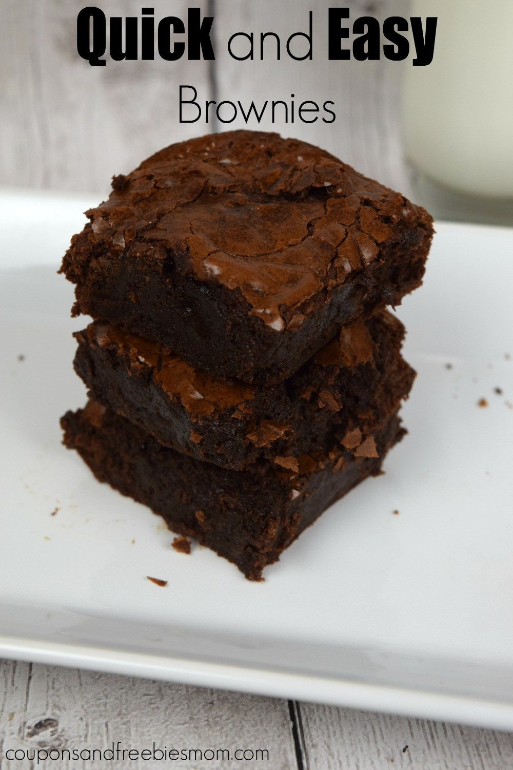 Homemade Chocolate Brownies  Quick and Easy Brownies Best Basic Recipe from Scratch