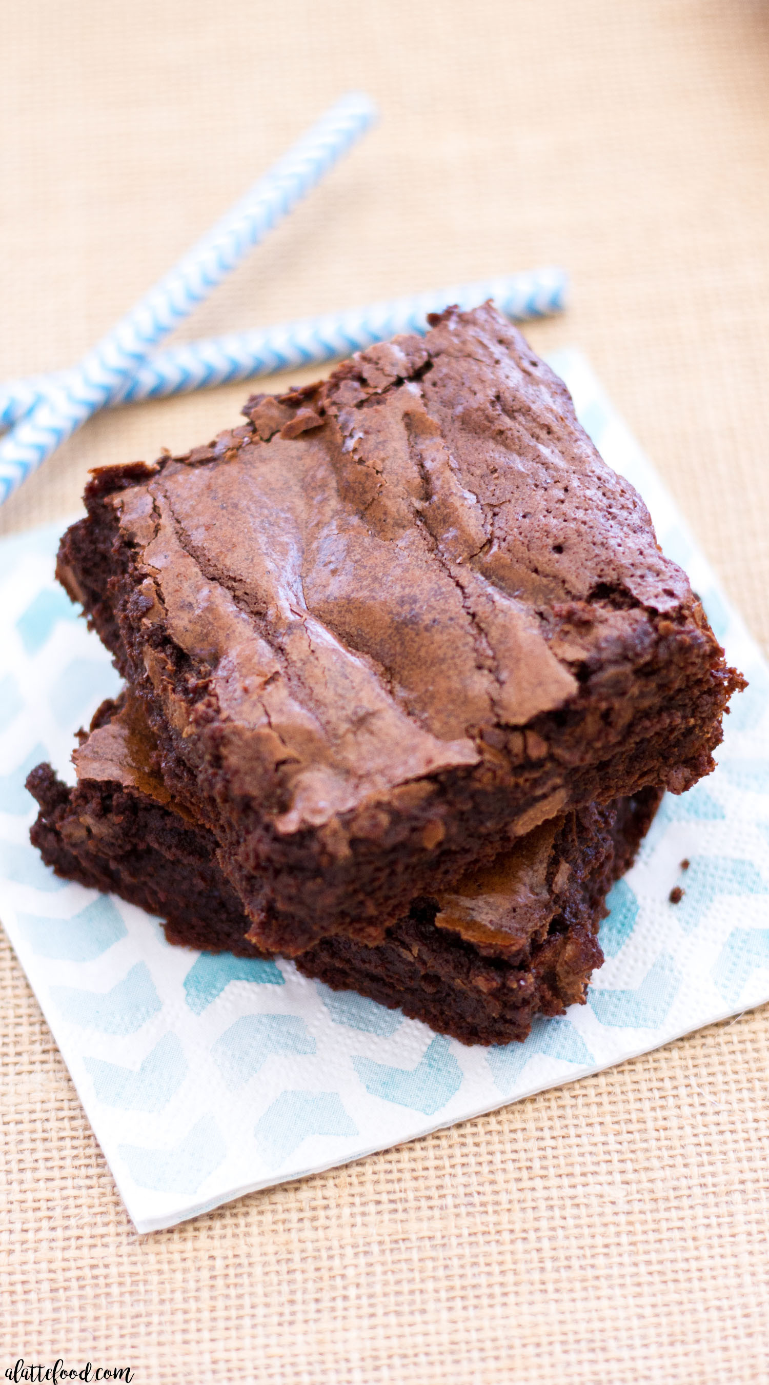 Homemade Chocolate Brownies  Double Chocolate Fudge Brownies A Latte Food