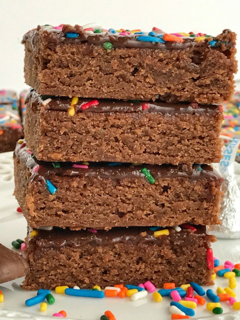 Homemade Chocolate Brownies  Hershey s Kisses Milk Chocolate Brownies To her as Family