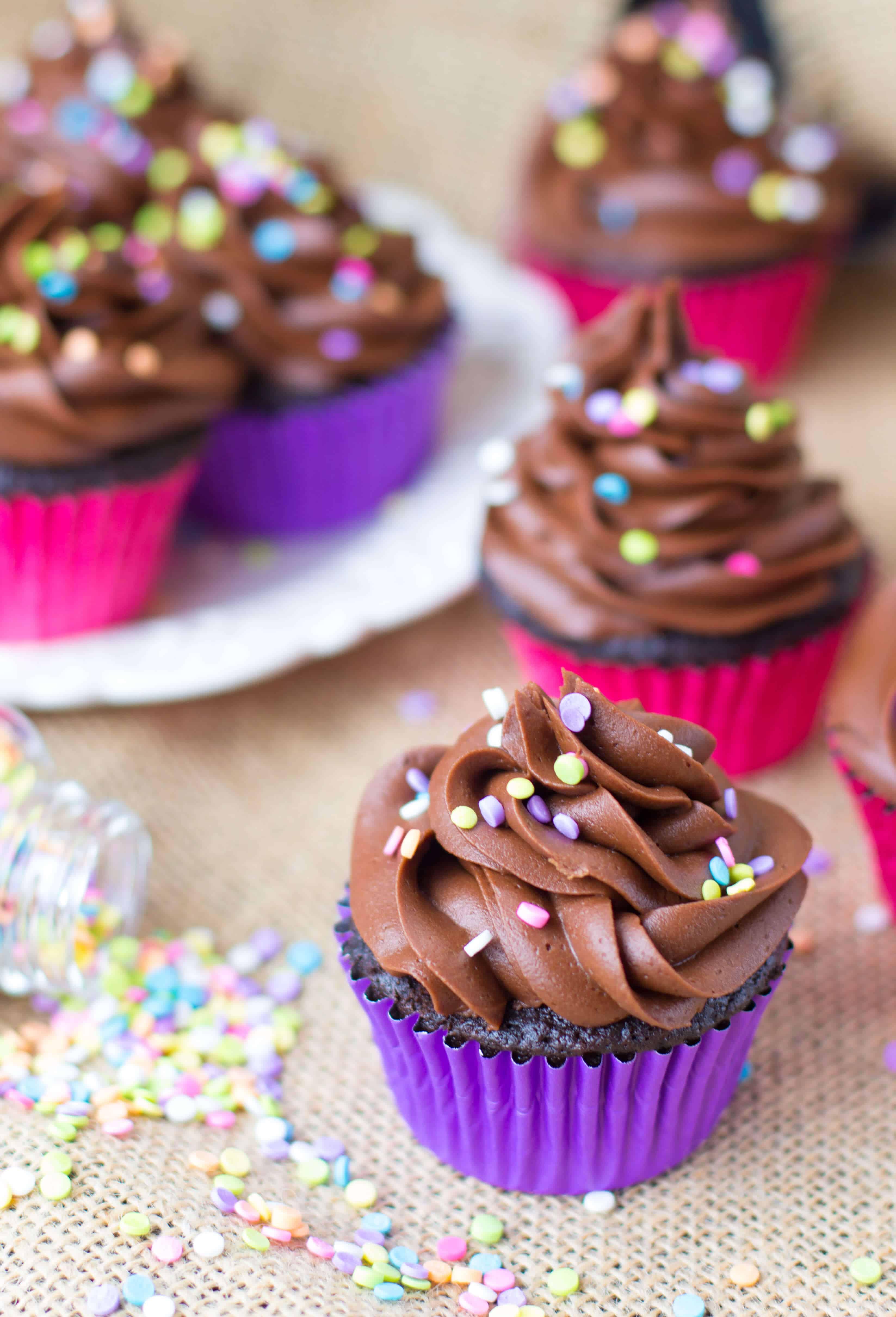 Homemade Chocolate Cupcakes  Easy Chocolate Cupcakes Sugar Spun Run