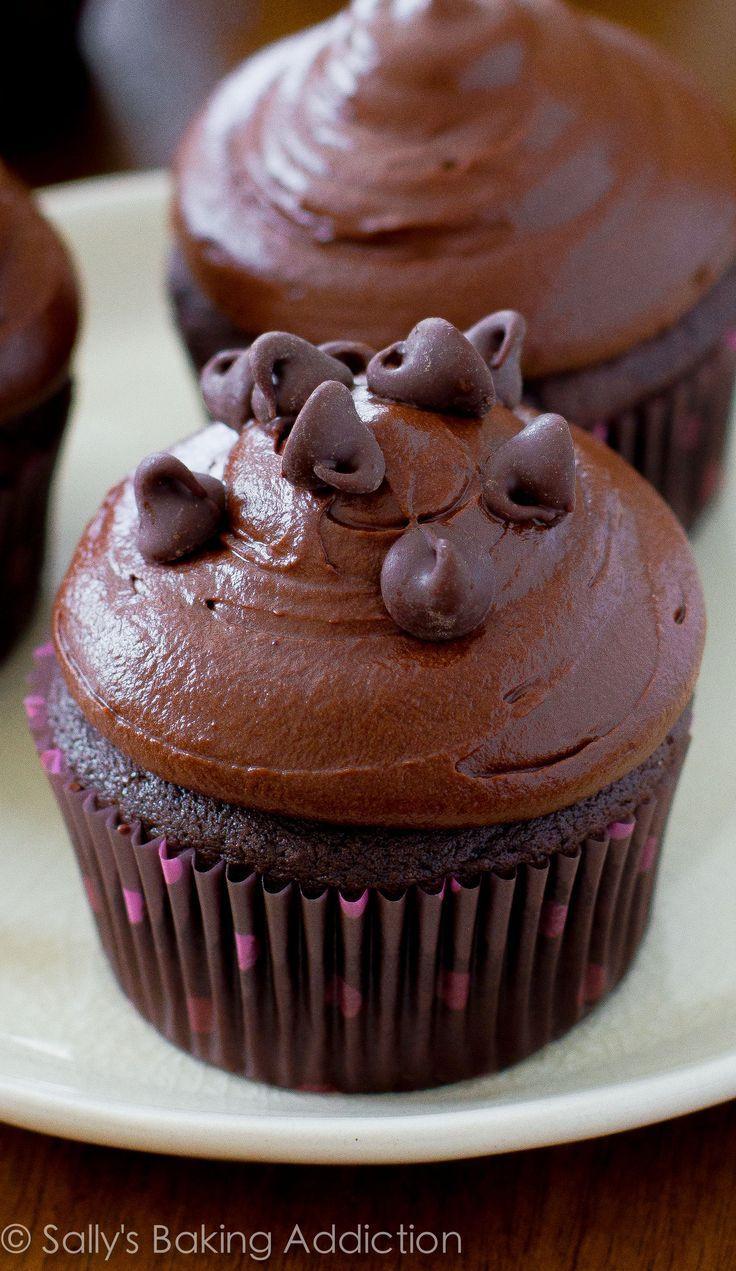 Homemade Chocolate Cupcakes  dark chocolate frosting recipe ghirardelli