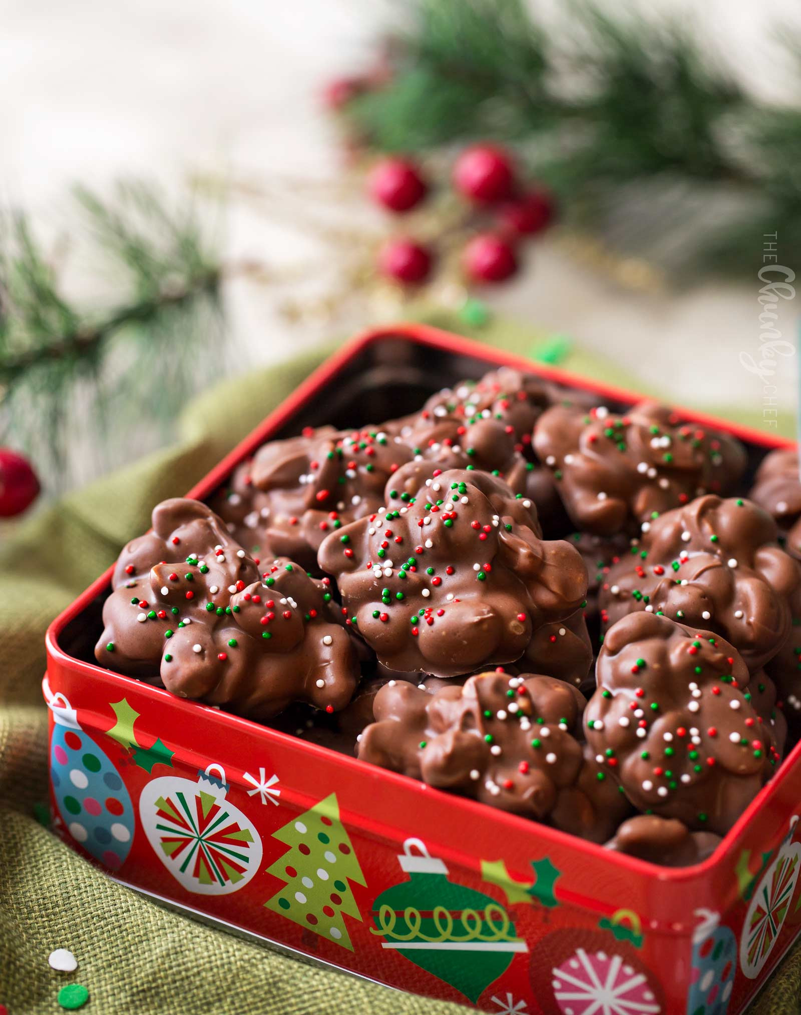 Homemade Christmas Candy  Easy Christmas Crockpot Candy The Chunky Chef