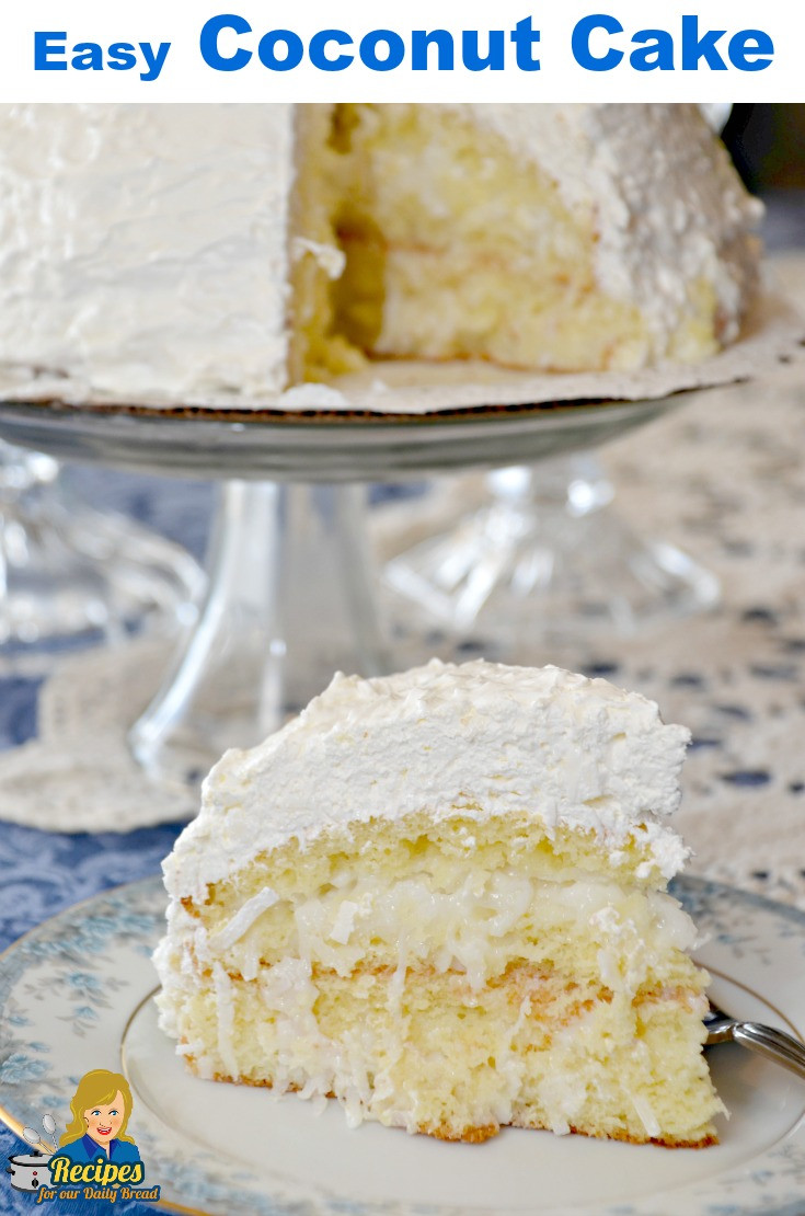 Homemade Coconut Cake Recipe  EASY COCONUT CAKE WITH 5 SIMPLE INGREDIENTS