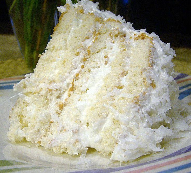 Homemade Coconut Cake Recipe  Easy Coconut Refrigerator Cake Recipe