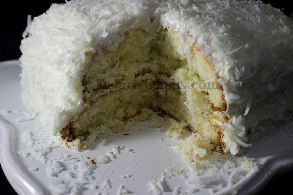 Homemade Coconut Cake Recipe  Semi Homemade Coconut Cake