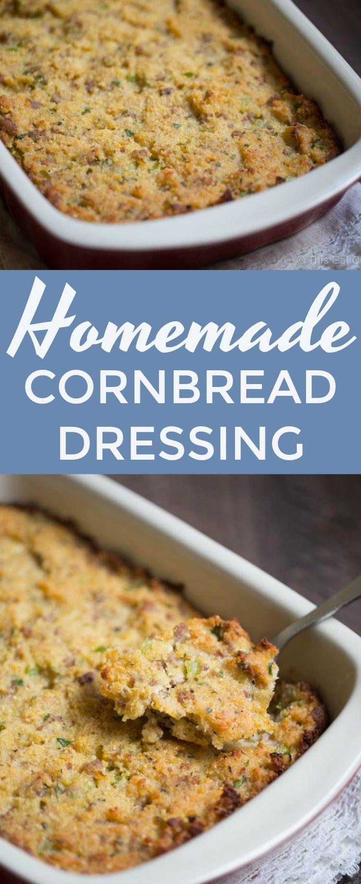 Homemade Cornbread Dressing  Homemade Cornbread Dressing