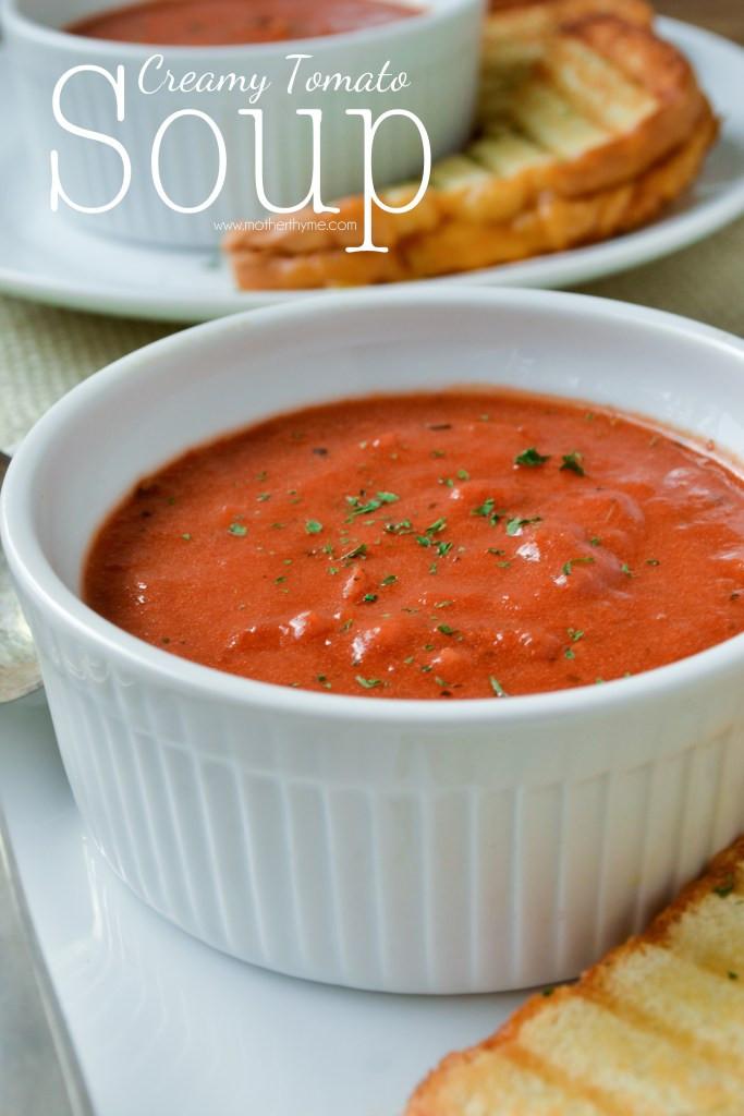 Homemade Creamy Tomato Soup  Creamy Tomato Soup
