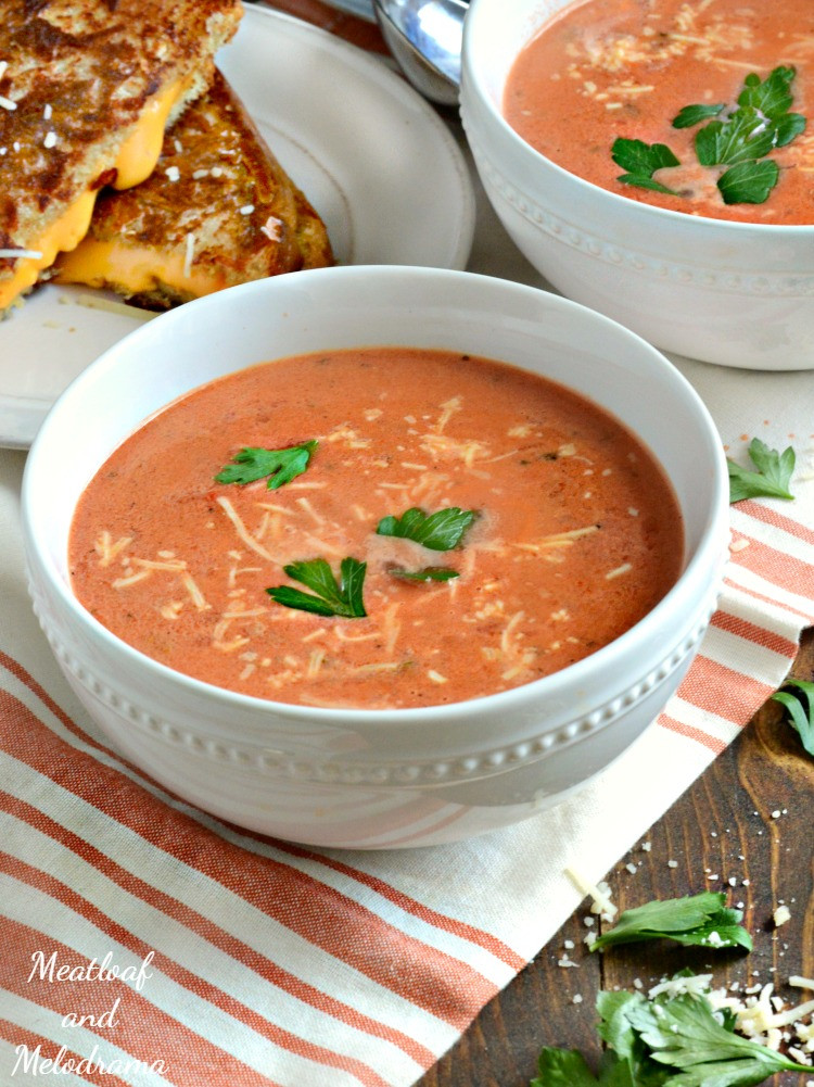 Homemade Creamy Tomato Soup  Easy Creamy Tomato Basil Soup Meatloaf and Melodrama