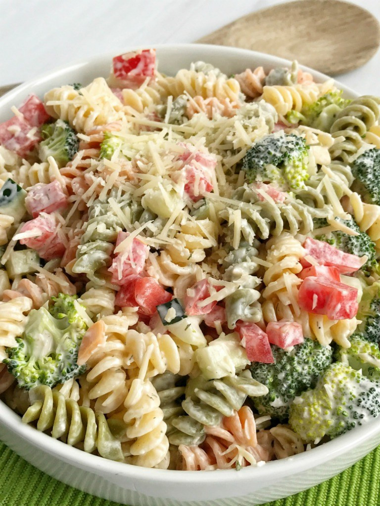 Homemade Macaroni Salad  Ranch Pasta Salad To her as Family