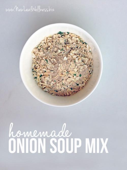 Homemade Onion Soup Mix  Recipe for homemade onion soup mix
