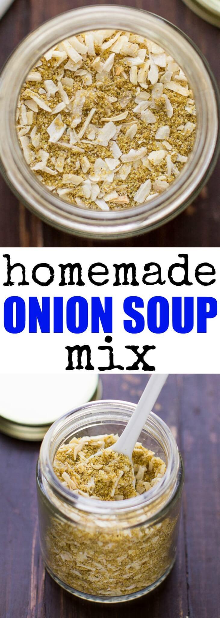 Homemade Onion Soup Mix  homemade onion soup mix