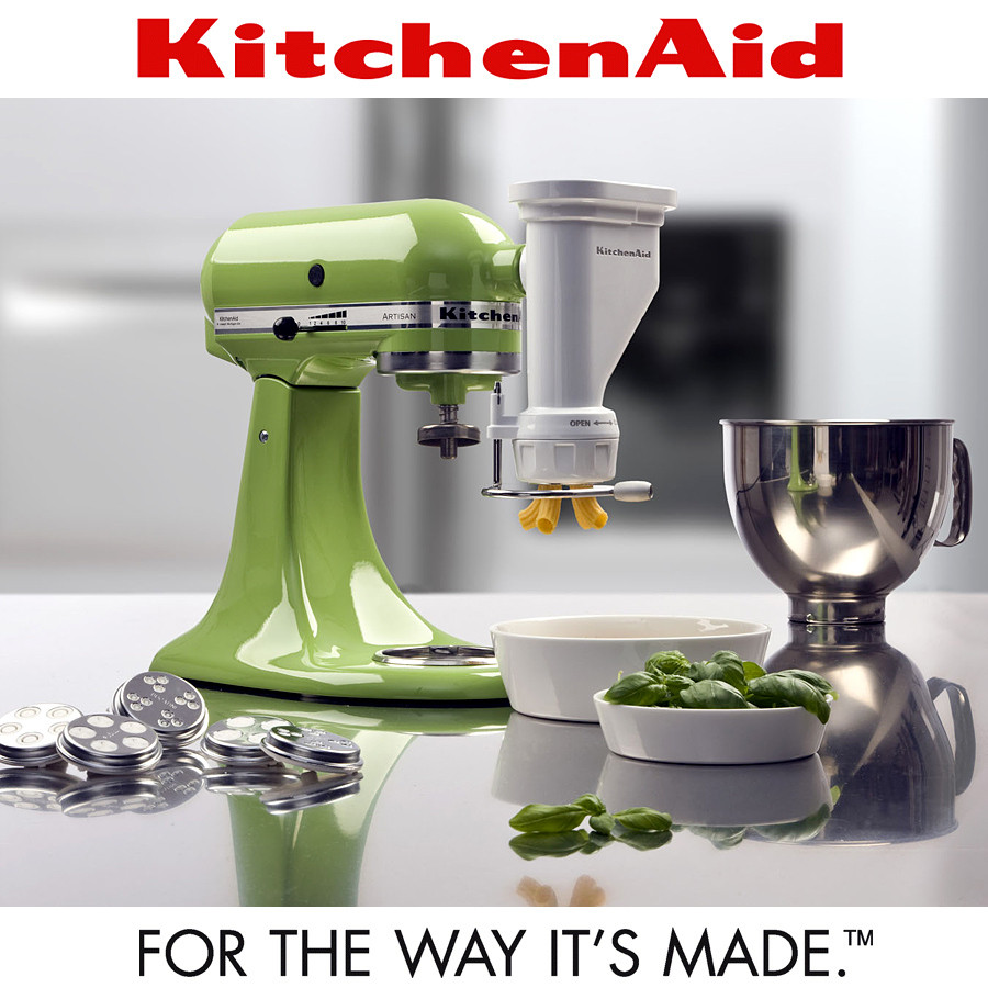 Homemade Pasta Kitchenaid  KitchenAid Pasta Shape Press Cookfunky