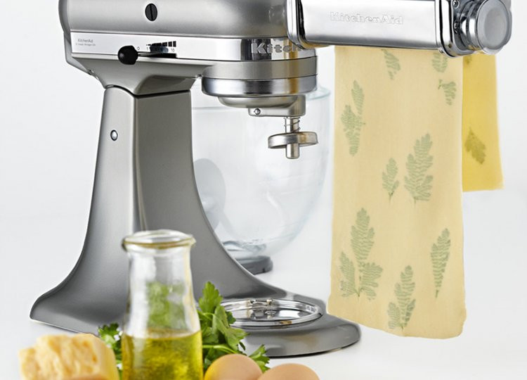 Homemade Pasta Kitchenaid  Fresh Herb Studded Pasta Sheets