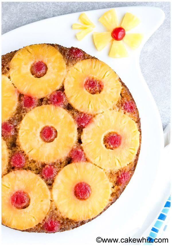 Homemade Pineapple Upside Down Cake  Homemade Pineapple Upside Down Cake CakeWhiz