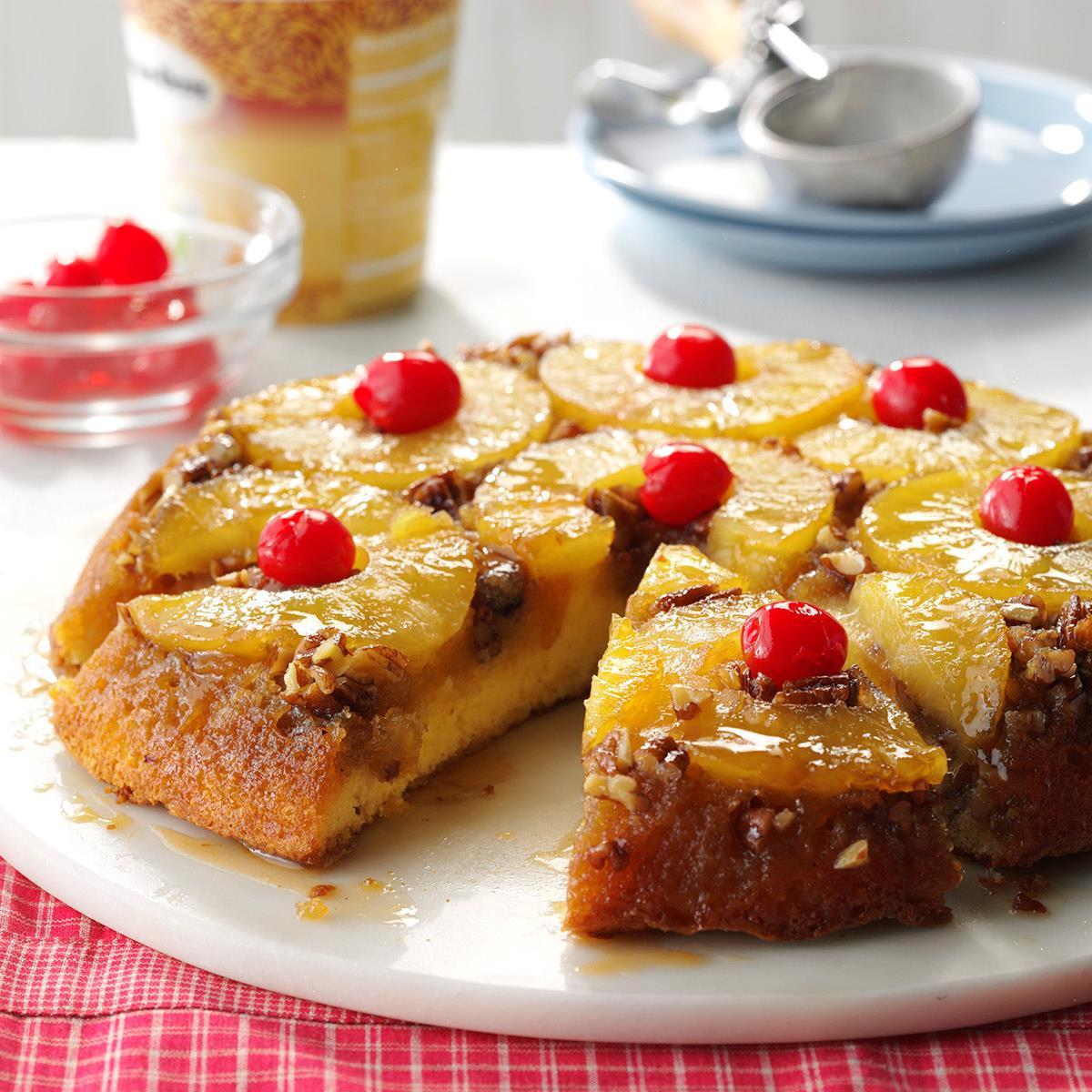 Homemade Pineapple Upside Down Cake  Skillet Pineapple Upside Down Cake Recipe