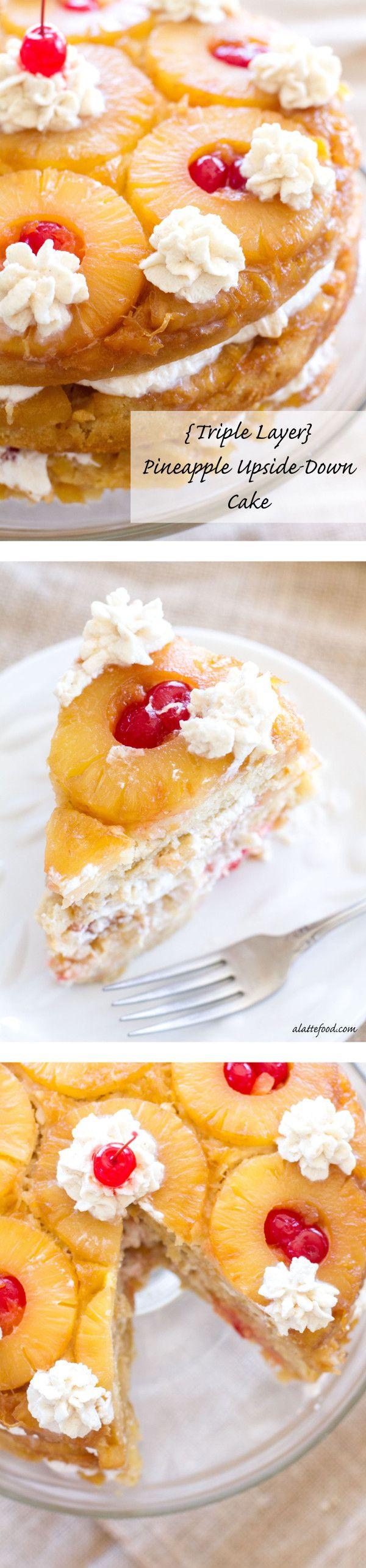 Homemade Pineapple Upside Down Cake  Triple Layer Pineapple Upside Down Cake