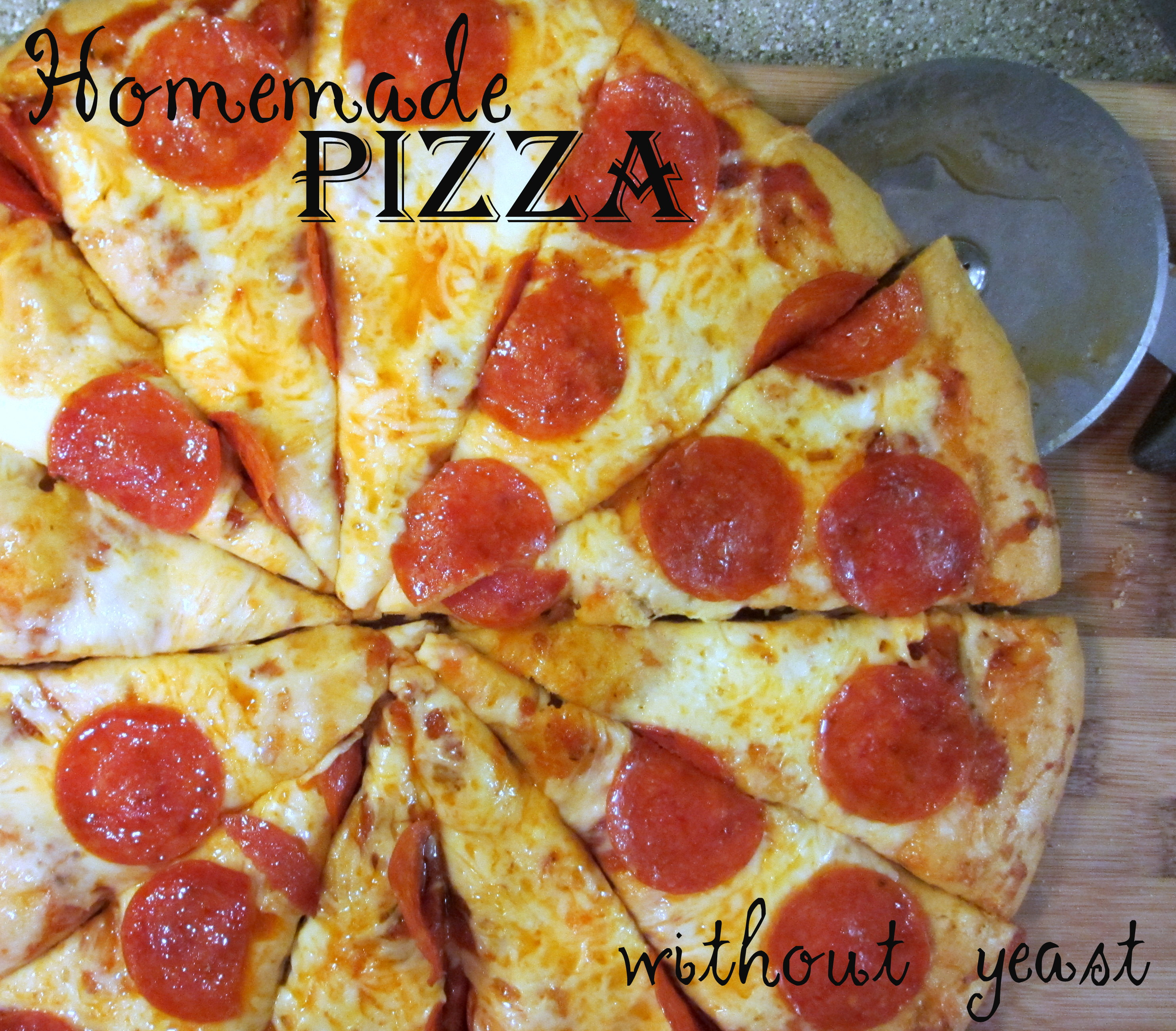Homemade Pizza Dough Without Yeast  homemade pizza dough recipe without yeast