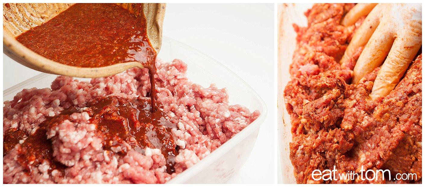 Homemade Pork Sausage Recipe  Chorizo Recipe How to Make Pork Sausage • Eat With Tom