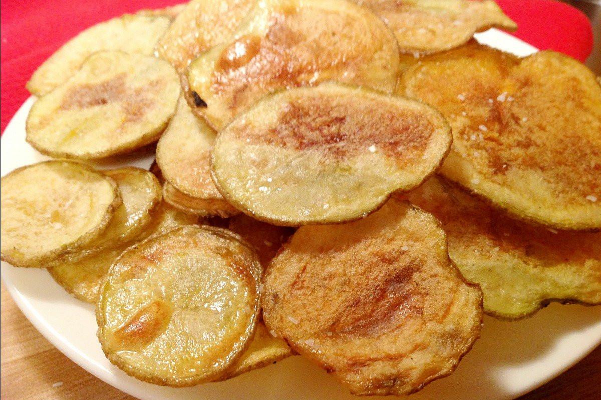 Homemade Potato Chips  Homemade Baked Potato Chips [Vegan] e Green Planet e