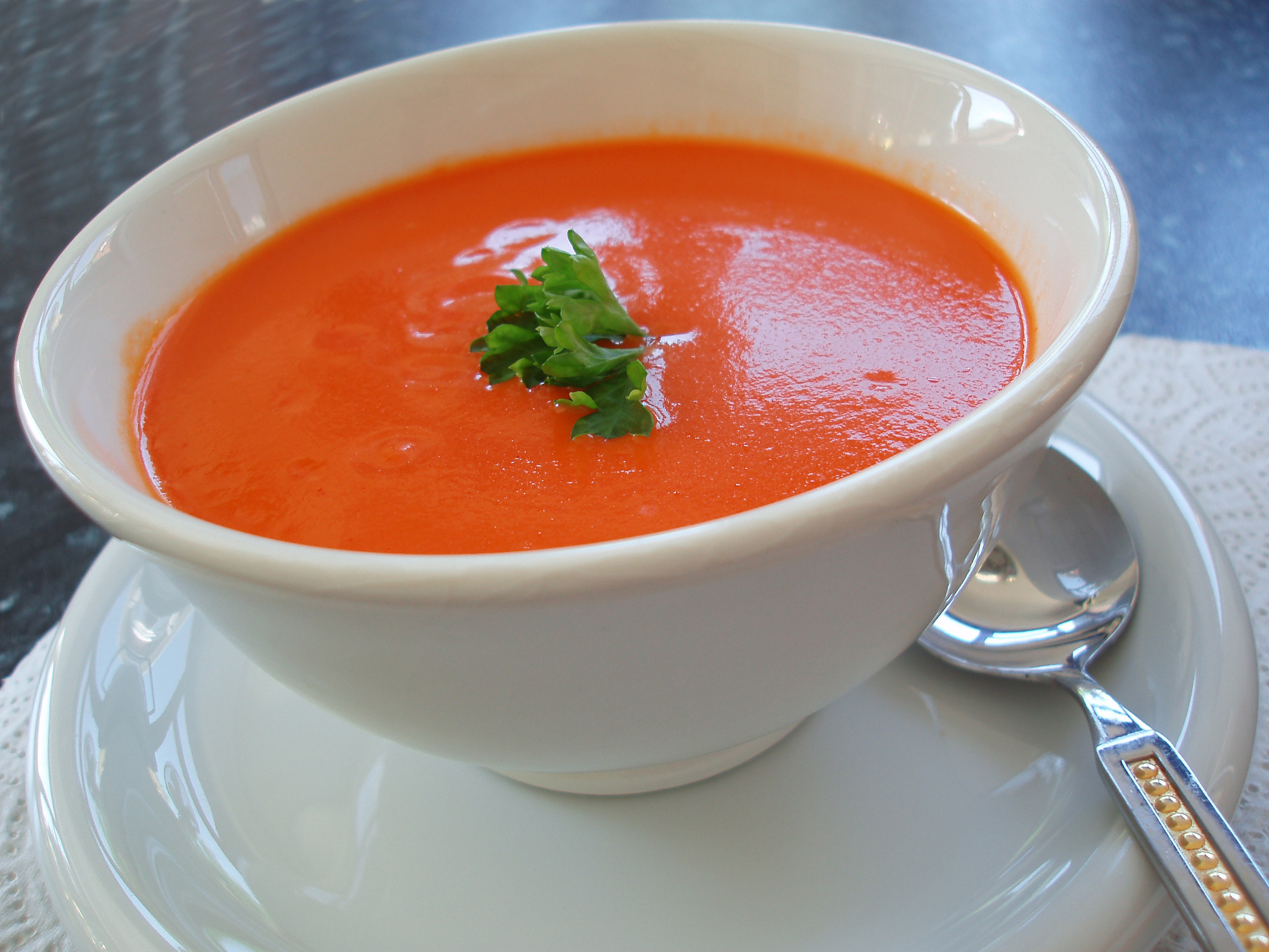 Homemade Tomato Basil Soup  Catherine s Homemade Tomato Soup For A Crowd