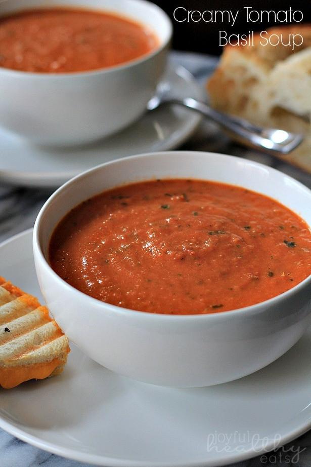 Homemade Tomato Basil Soup  Tuscan Tomato Soup with Rosemary Garlic Croutons