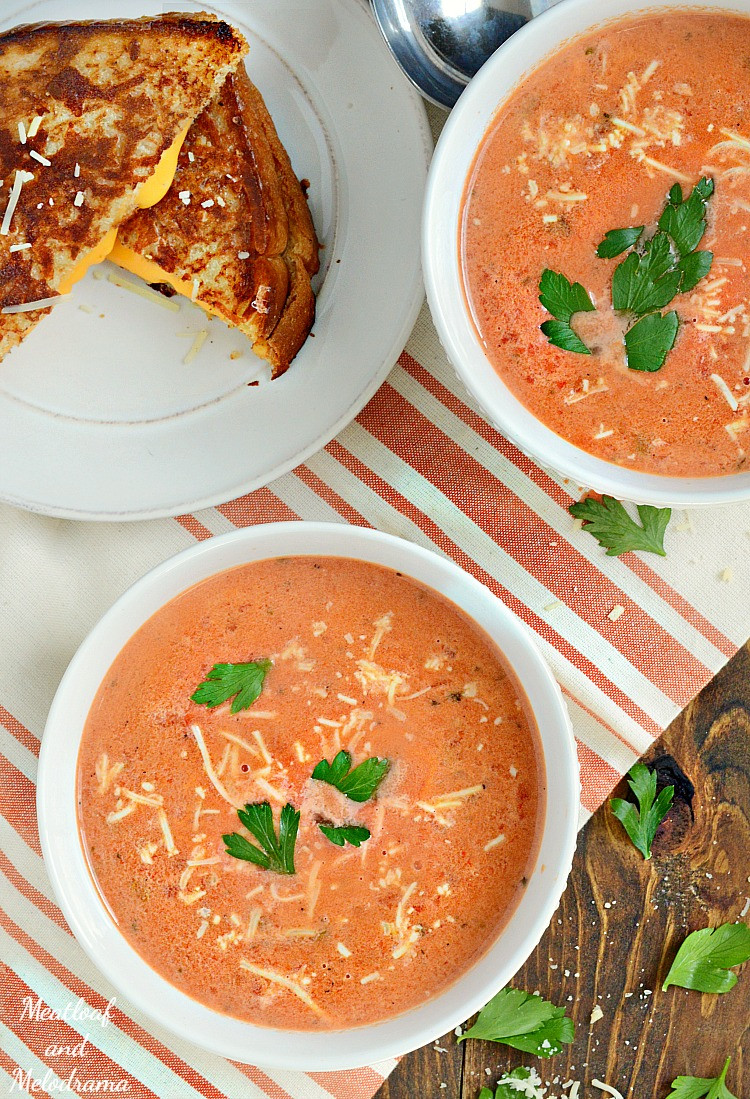 Homemade Tomato Basil Soup  Easy Creamy Tomato Basil Soup Meatloaf and Melodrama