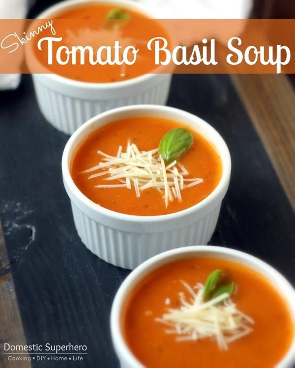 Homemade Tomato Basil Soup  nutrition & fitness ★