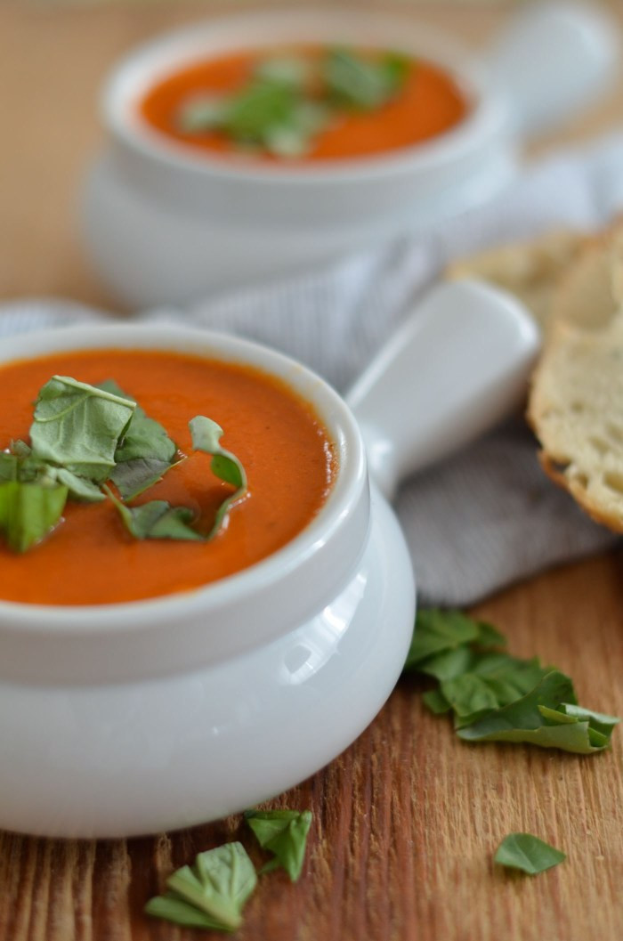 Homemade Tomato Basil Soup  Roasted Garlic Basil Tomato Soup · JessicaNWood