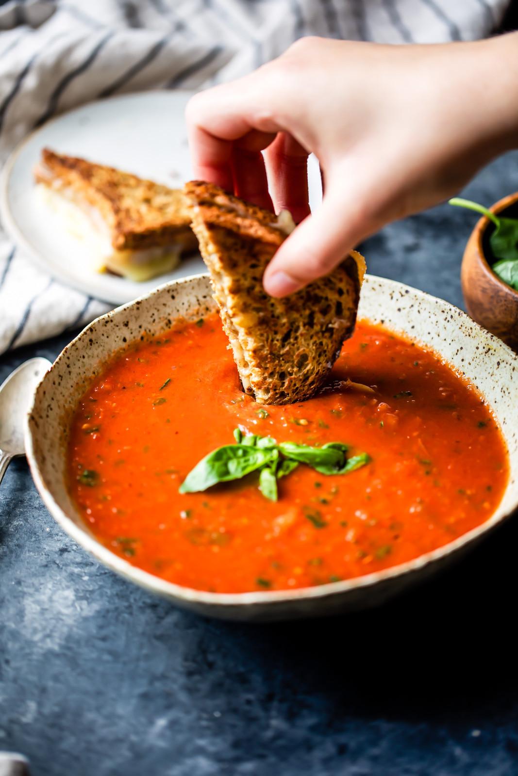 Homemade Tomato Basil Soup  Homemade Roasted Tomato Basil Soup video