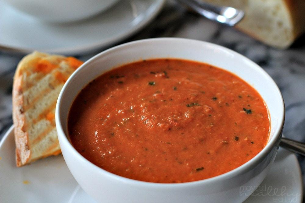 Homemade Tomato Soup Recipe  Creamy Tomato Basil Soup