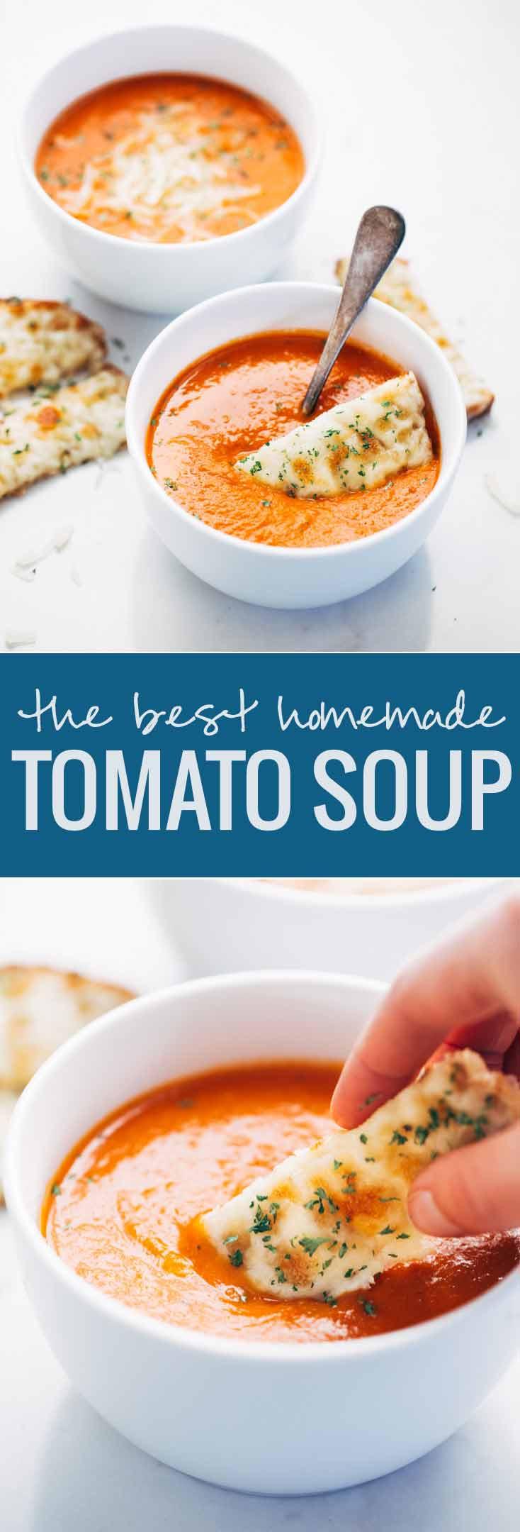 Homemade Tomato Soup Recipe  Simple Homemade Tomato Soup Recipe Pinch of Yum
