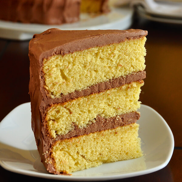 Homemade Yellow Cake  The Best Yellow Cake Recipe Homemade from Scratch