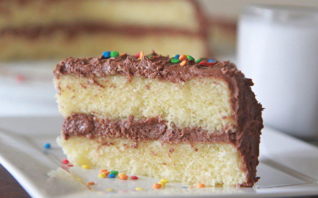 Homemade Yellow Cake  Fluffy Moist Homemade Yellow Cake Recipe