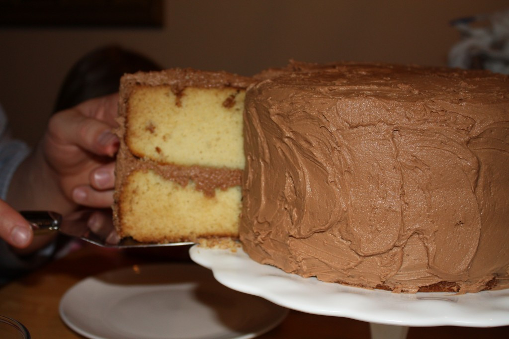 Homemade Yellow Cake  Homemade Yellow Cake with Chocolate Fudge Frosting & How