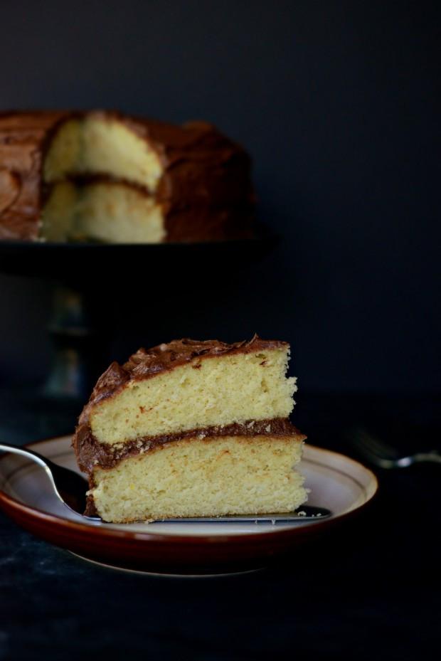 Homemade Yellow Cake  Simply Scratch Homemade Yellow Cake Whipped Chocolate