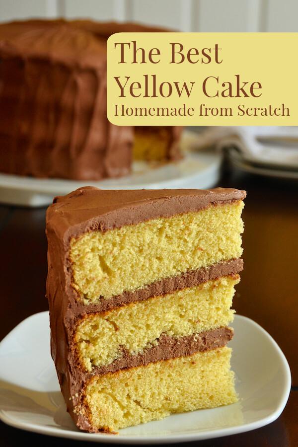 Homemade Yellow Cake  The Best Yellow Cake Recipe Homemade from Scratch Rock