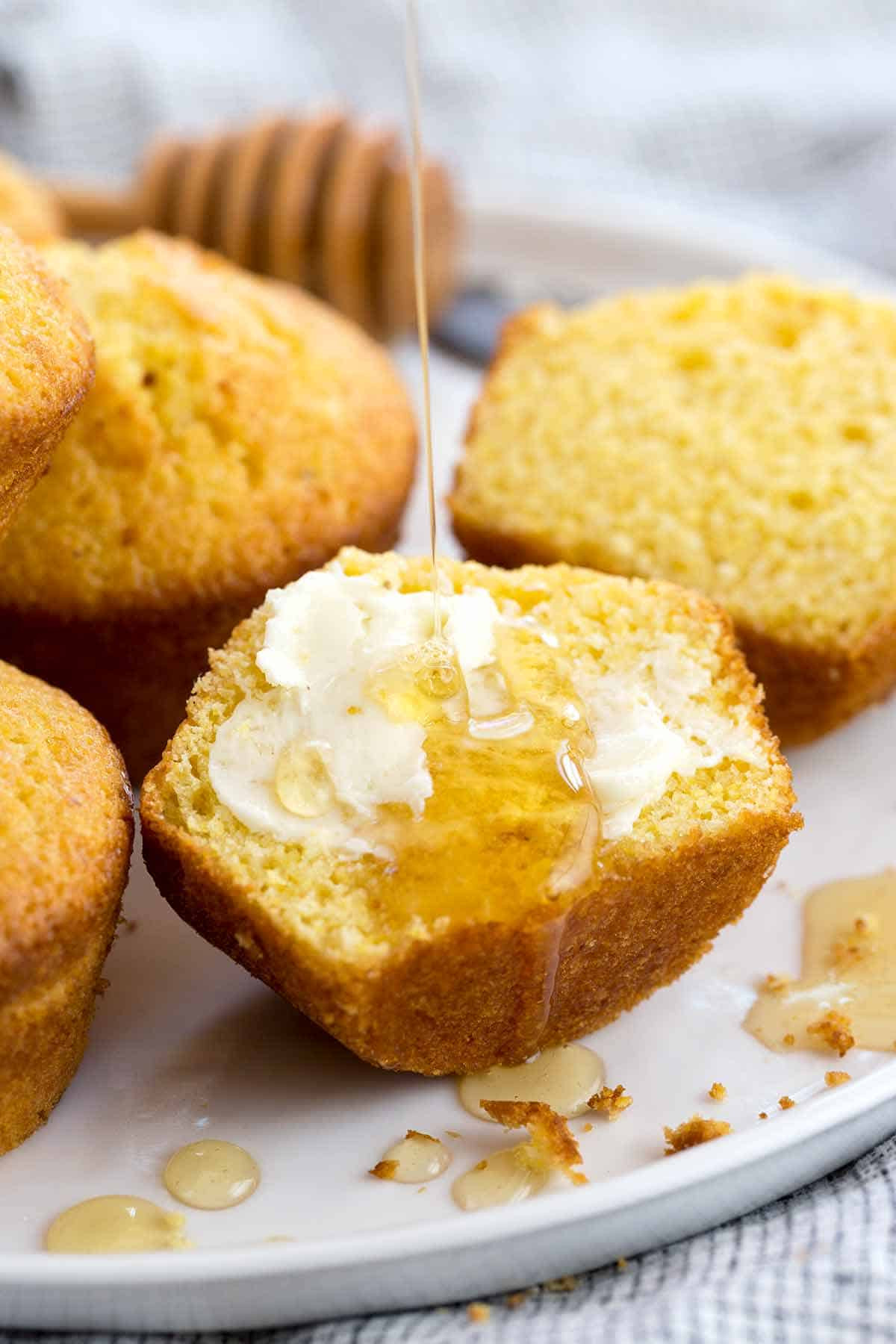 Honey Cornbread Recipe  Honey Cornbread Muffins Recipe Jessica Gavin