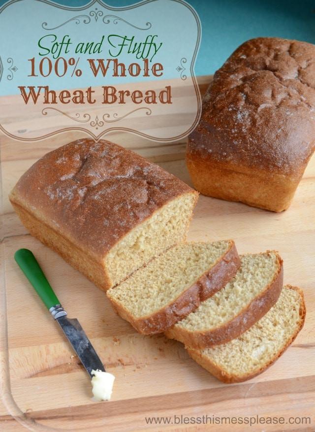 Honey Whole Wheat Bread Recipe  Honey Whole Wheat Bread Recipe Bless This Mess