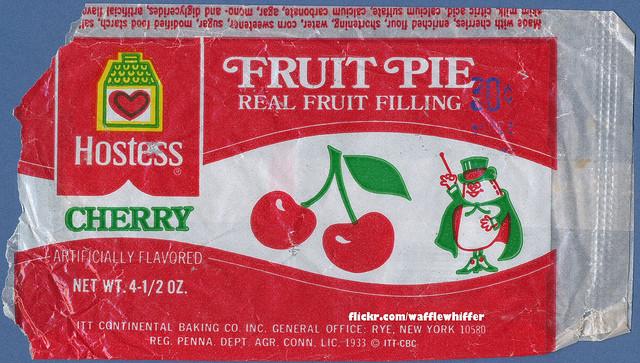Hostess Fruit Pies  Hostess Fruit Pie Wrapper Cherry 1970s