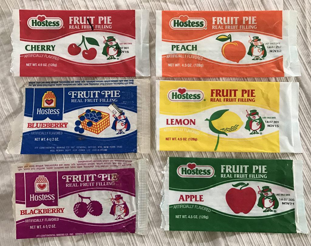 Hostess Fruit Pies  Vintage Hostess Fruit Pie Wrappers Magician