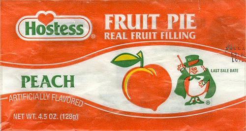 Hostess Fruit Pies  Hostess Peach Fruit Pie Wrapper 2004