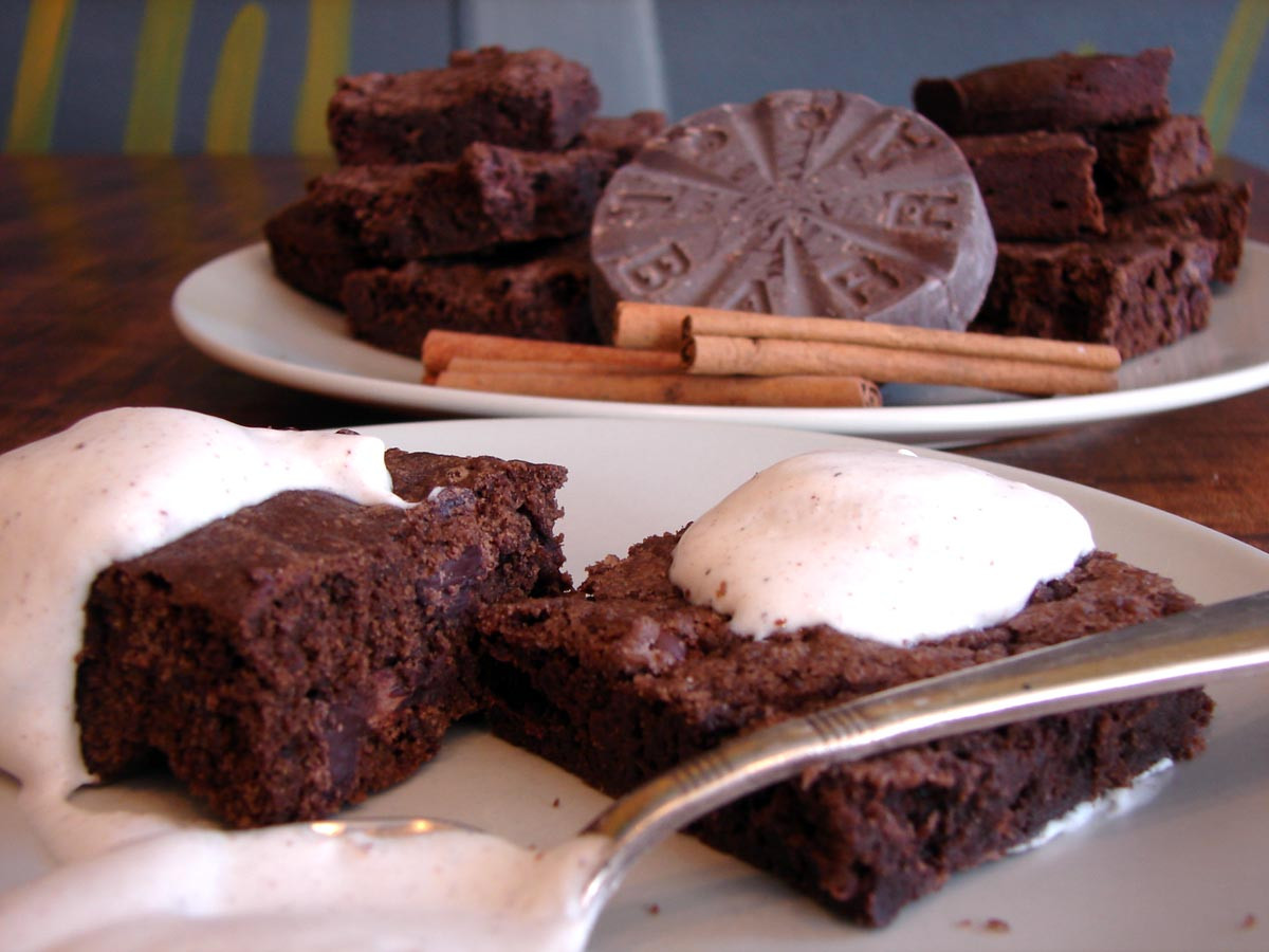 Hot Chocolate Brownies  Mexican hot chocolate brownies – chewy v cake y
