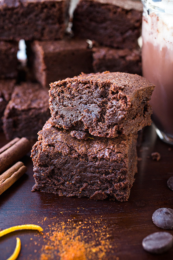"Hot Chocolate Brownies  ""Sweet Heat"" Mexican Hot Chocolate Brownies"