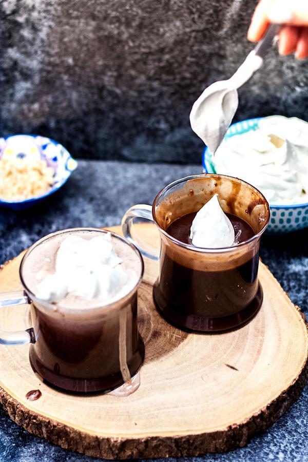 Hot Chocolate Scans  Hazelnut Italian Hot Chocolate Cioccolata Calda alla