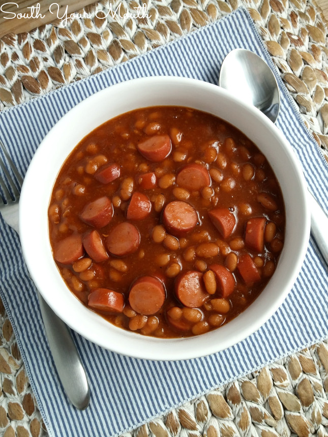 Hot Dogs And Beans  South Your Mouth Franks & Beans